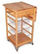 China Kitchen and Dining (C7225) Drop Leaf Cart with Baskets wholesale