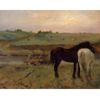 China Oil Painting Horses_in_a_Meadow wholesale