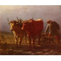 China Oil Painting Plowing wholesale