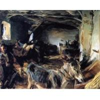 China Oil Painting Stable_at_Cuenca wholesale