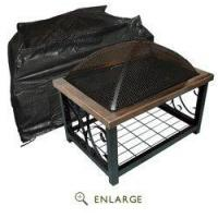 China Outdoor Rectangle Fire Pit Table Vinyl Cover Well Traveled Living FireSense 02128 wholesale