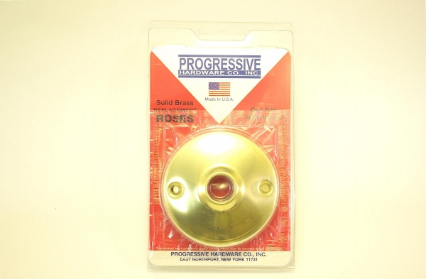 """Quality Door Hardware 1 Pair of Solid Brass Knob Roses 3"""" Diameter for sale"""