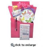 China Gift for Cancer Patient |Boredom Buster Get Well Gift Basket with Book in Pink wholesale