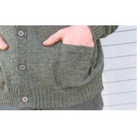 China Clothing WoolyWarm Buttnup Tweed Sweater - Derby Green wholesale