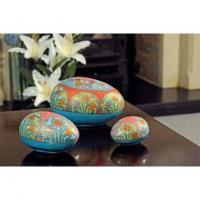 China Kashmir Easter Egg Nesting Boxes (Set of 3) wholesale