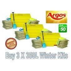 Quality Offers with Free Gifts 3x 350 Litre Grit Bin Winter Pack with Free Gift for sale