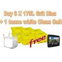 China Offers with Free Gifts 6x 175 Litre Grit Bins and 1 Tonne White Rock Salt with Free Gift wholesale
