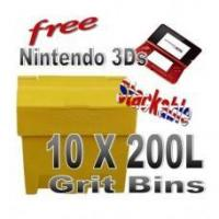China Offers with Free Gifts 10x 200 Litre Grit Bins with Free Gift wholesale