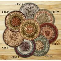 China Braided Rugs Chair Pad Blue and Burgundy Jute Braided Earth Rug wholesale