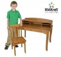 Buy cheap Wooden Avalon Desk with Hutch - Honey [KK-26706] from wholesalers
