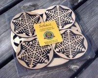 Wooden Snowflake Trivet and Coasters Gift Set [MLW-66635]