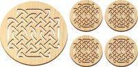 China Wooden Celtic Knot Trivet and Coasters Gift Set [MLW-66606] wholesale