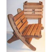 Wooden Collapsible Beach Chair -Teddy Bear - Brown [W-2424]