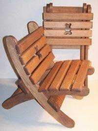 """Quality Wooden Collapsible Beach Chair -""""Teddy Bear"""" - Brown [W-2424] for sale"""