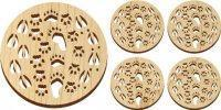 Wooden Tracks Trivet and Coasters Gift Set [MLW-66637]