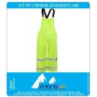 China Industrial Workwear High Visibility Lime Waterproof Overalls wholesale