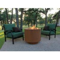 China 30 Round Cor-Ten Steel Hidden Tank Fire Pit wholesale