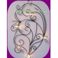 modern round iron wall mounted candle holder for holiday and home decoration