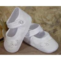 China Girls Cotton Batiste Shoe Accented with tiny braid - 1CAGAS wholesale
