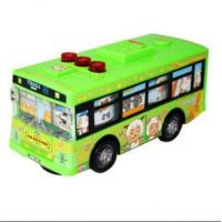China Vehicle Toys Cartoon Figures Theme Kids Green School Bus wholesale