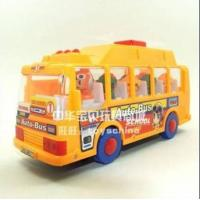 China Vehicle Toys ABS Made Cartoon Music Yellow School Bus Toy wholesale