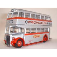 China Vehicle Toys 1:76 Scale Alloy Silver Star Double Decker Bus Model wholesale
