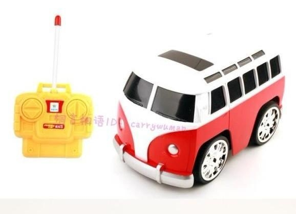 Quality Vehicle Toys 4 Channel Mini Scale Cartoon Yellow / Red RC Bus Toy for sale