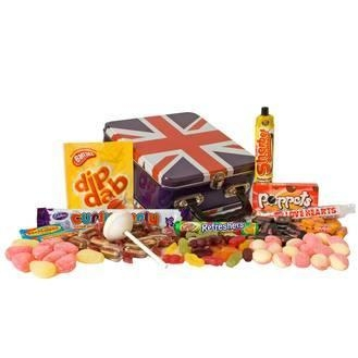 Quality Gifts and Gift Trays Best of British Sweets Tin for sale