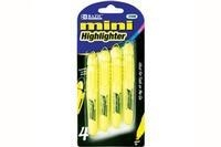 Quality BazicYellow Mini Fluorescent Highlighter with Cap Clip (4/Pack) for sale