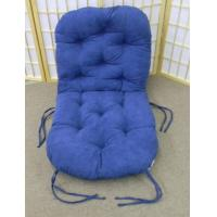 Buy cheap Swivel Rocker Papasan BLUE Microfiber Fabric Replacement Cushion Closeout One ONLY To Sell from wholesalers