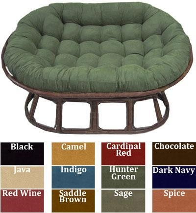 Quality Love Seat Papasan Micro Suede Replacement Cushion for sale