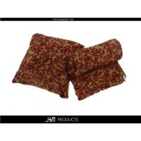 China Leaves design printed coral fleece cushion & Blanket on sale
