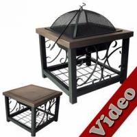 China Old World Bronze Finish Cocktail Table Fire Pit wholesale