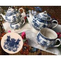 "China IWDSC 01-58038 7.5"" Blue Porcelain Tea for One wholesale"