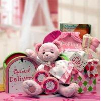China Gift Basket Drop Shipping 890512-Pink A Special Delivery New Baby Gift set - Pink wholesale