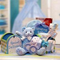 China Gift Basket Drop Shipping 890512-Blue A Special Delivery New Baby Gift set - Blue wholesale