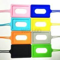 China Silicone baggage tag/silicone car holder wholesale