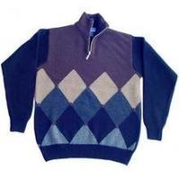 Buy cheap men's Cashmere pullover Sweater (100%high quality cashmere intarsia argyle) SWT-M10007 from wholesalers