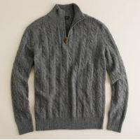 Buy cheap Men's Cashmere Sweater Kaschmir pullover zipper open quality pullover men SWT-M10101 from wholesalers