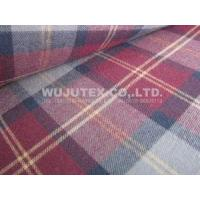 100% Cotton Yarn Dyed Fabric, Twill Weave, Check Brushed Cloth