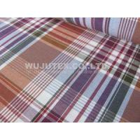 China Stable Quality Nice soft 100% Cotton Yarn Dyed Fabric , Plain Weave Plaid Fabric wholesale