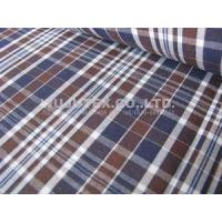 China Competitive Price 100% Cotton Yarn Dyed Fabric , plain weave plaid 145 /147cm width wholesale
