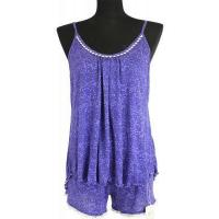 China New Products HOME Slub Yarn Printed Camisole and Short Pant Pajama Set wholesale