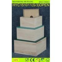 S/3 Painted cover paulownia wood box for storage and packing