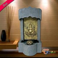 China Polyresin Kindly Hindu Gods Fountain With Light And Rolling Ball wholesale
