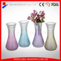 China Wholesale Colored Glass Vases Sprayed Colored Glass Flower Vase wholesale