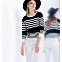 China tight stripe short sweater wholesale