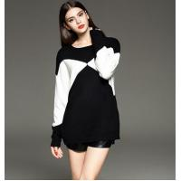 China loose pullover knitted sweater for ladies wholesale