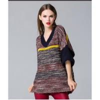 China loose pullover knitted sweater wholesale
