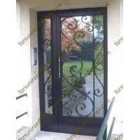 China residential steel entry doors,entry doors wrought,wrought iron doors,cheap wrought iron door wholesale